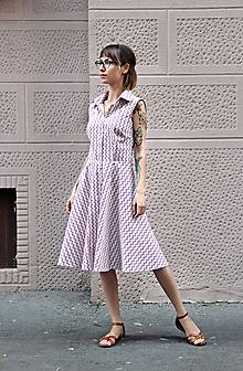 Šaty - Retro šaty s lastovičkami - 12143096_