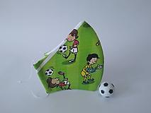 Rúška - Letné dizajnové rúško futbal tvarované dvojvrstvové - 12144855_