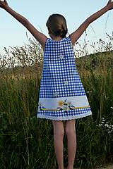 Detské oblečenie - Šatočky Margarétky v modrej kocke - 12143790_