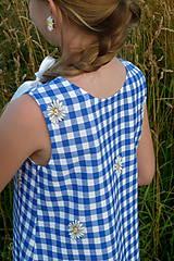 Detské oblečenie - Šatočky Margarétky v modrej kocke - 12143814_