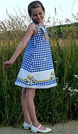 Detské oblečenie - Šatočky Margarétky v modrej kocke - 12143819_