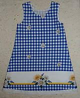 Detské oblečenie - Šatočky Margarétky v modrej kocke - 12143824_