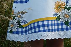Detské oblečenie - Šatočky Margarétky v modrej kocke - 12143827_