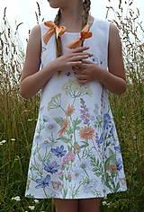 Detské oblečenie - Šatočky Lúčne kvety - 12143833_