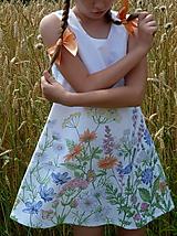 Detské oblečenie - Šatočky Lúčne kvety - 12143836_