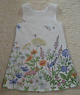 Detské oblečenie - Šatočky Lúčne kvety - 12143839_