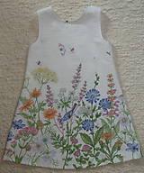 Detské oblečenie - Šatočky Lúčne kvety - 12143842_