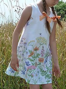 Detské oblečenie - Šatočky Lúčne kvety - 12143838_