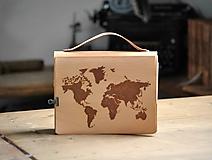 Papiernictvo - Kombinovaný kožený zápisník PASSEPARTOU - 12144363_