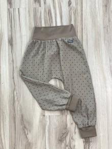 Detské oblečenie - Nohavice zo 100% bavlny do patentu ( mušelín/ gázovina) - 12143568_
