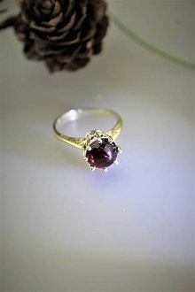 Prstene - granát prsteň strieborný - 12144253_