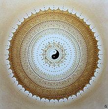 Obrazy - SPIRITUALITA (gold-white) 60 x 60 - 12144405_