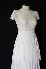 Šaty - Svadobné šaty z elastickej krajky s holým chrbátom - 12144277_
