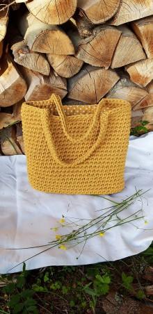 Veľké tašky - Taška MUSTARD s podšívkou - ZĽAVA 10% - 12144770_