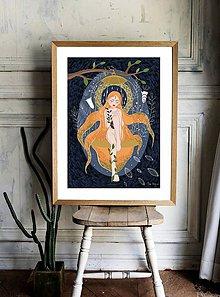 Grafika - We are tender and fierce - print digitálnej autorskej ilustrácie-obrázok - 12143569_
