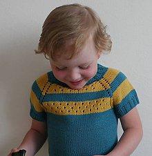Detské oblečenie - Pletený svetrík vol. 5 - 12144074_