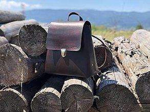 Batohy - Kožený ruksak No.18 - 12143007_