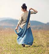 Šatky - Pléd Elizabeth Bennet - modrý petrol - 12144832_