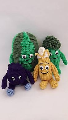 Hračky - Brokolica, Melón, Banán, Čučoriedka/ hačkovaná hračka/ - 12144435_