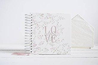 Papiernictvo - Svadobný album - Gypsomilka LOVE 20x20 - 12147454_