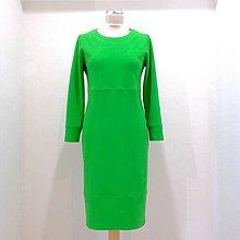 Šaty - Úpletové zelené šaty  - 12146349_