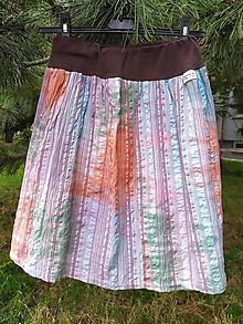 Sukne - Farebná batikovaná letná suknička - 12145280_