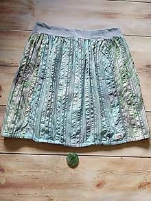 Sukne - Batikovaná sukňa v modro-zelenkavých tónoch - 12146657_