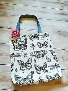 Nákupné tašky - Motýle, vážky a ine drobotiny - 12146869_