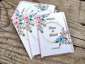 Darčeky pre svadobčanov - Svadobné magnetky ĎAKUJEME DeLuxe - 12146875_