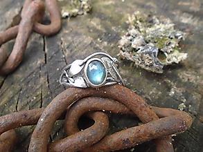 Prstene - Strieborny prsteň Ag925 Labradorit - 12146913_