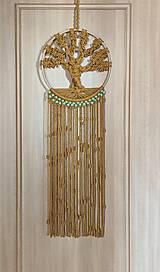 Dekorácie - Macramé strom života hnedý - 12145939_