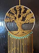 Dekorácie - Macramé strom života hnedý - 12145952_