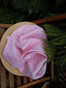 Textil - Ľahká detská deka z ružového mušelínu (plienkovina) - 12146494_