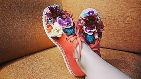Obuv - Kvetmi kvetované espadrilky - 12151393_