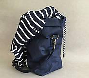 """Veľké tašky - Navy blue """" Taška na všetko"""" - 12150469_"""