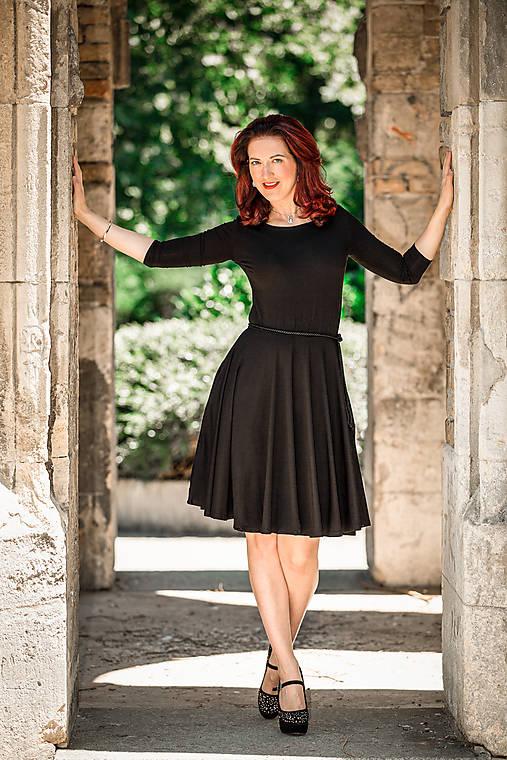 Šaty - Čierne bambusové šaty Lovely - 12150313_