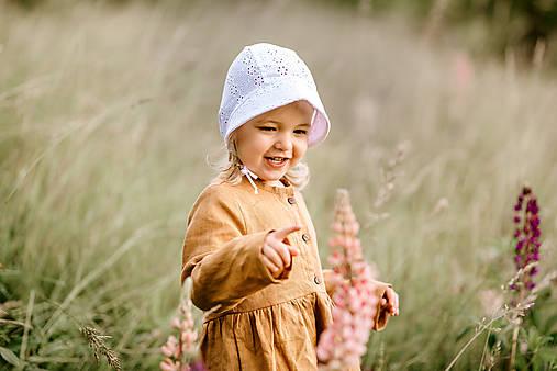 Detské čiapky - čepček Madeira kvety - 12151353_