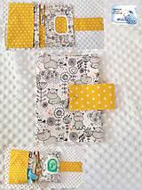 Detské doplnky - Plienkovník (obal na plienky) Hrošíky a žltá - 12149429_