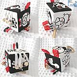 Hračky - Didaktická kocka čierno-biela - Zvieratka (Na dvore) - 12149593_