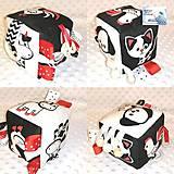 Hračky - Didaktická kocka čierno-biela - Zvieratka (Na dvore) - 12149595_