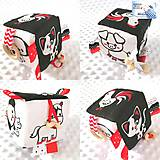 Hračky - Didaktická kocka čierno-biela - Zvieratka (Na dvore) - 12149596_