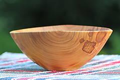 Nádoby - Miska z čerešňového dreva - 12150865_