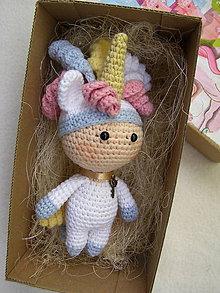 Hračky - mini bábika jednorožec - 12151724_