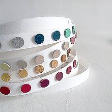 Náušnice - Kožené bodky / napichovačky (13 farieb) - 12153191_
