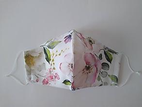 Rúška - Dizajnové rúško šípová ruža prémiová bavlna antibakteriálne s časticami striebra dvojvrstvové tvarované - 12153903_
