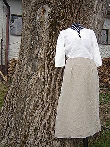 Sukne - Ľanová sukňa - 12153827_