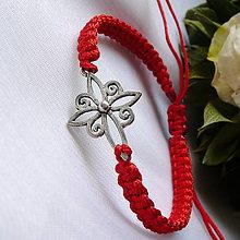 Náramky - Makramé náramok- kríž - 12154363_