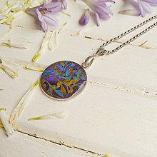 Náhrdelníky - En tissu -  náhrdelník průměr 25 mm - 12151831_