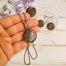Náhrdelníky - En tissu n.6 -  náhrdelník průměr 25 mm - 12151850_