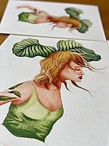 Grafika - Éterická kalatea - Print | Botanická ilustrácia - 12151814_